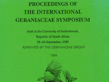 1990 Geraniaceae Proceedings Available